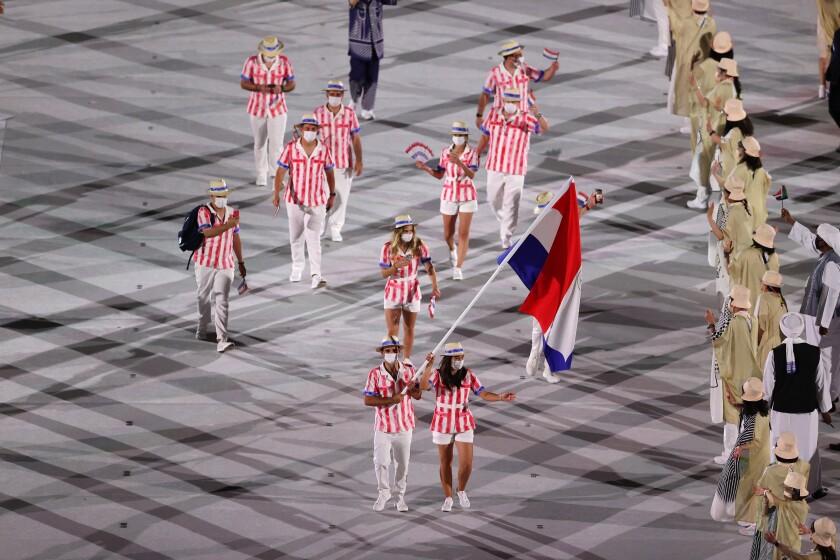 Fabrizio Zanotti Flag Opening Ceremony