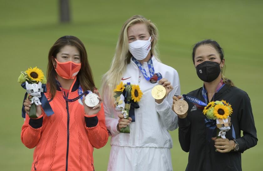 Medallists Women's Golf - Olympics: Day 18